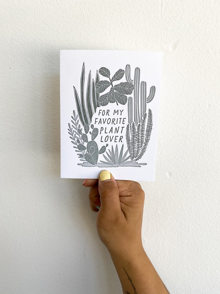 Greeting Card: Plant Lover