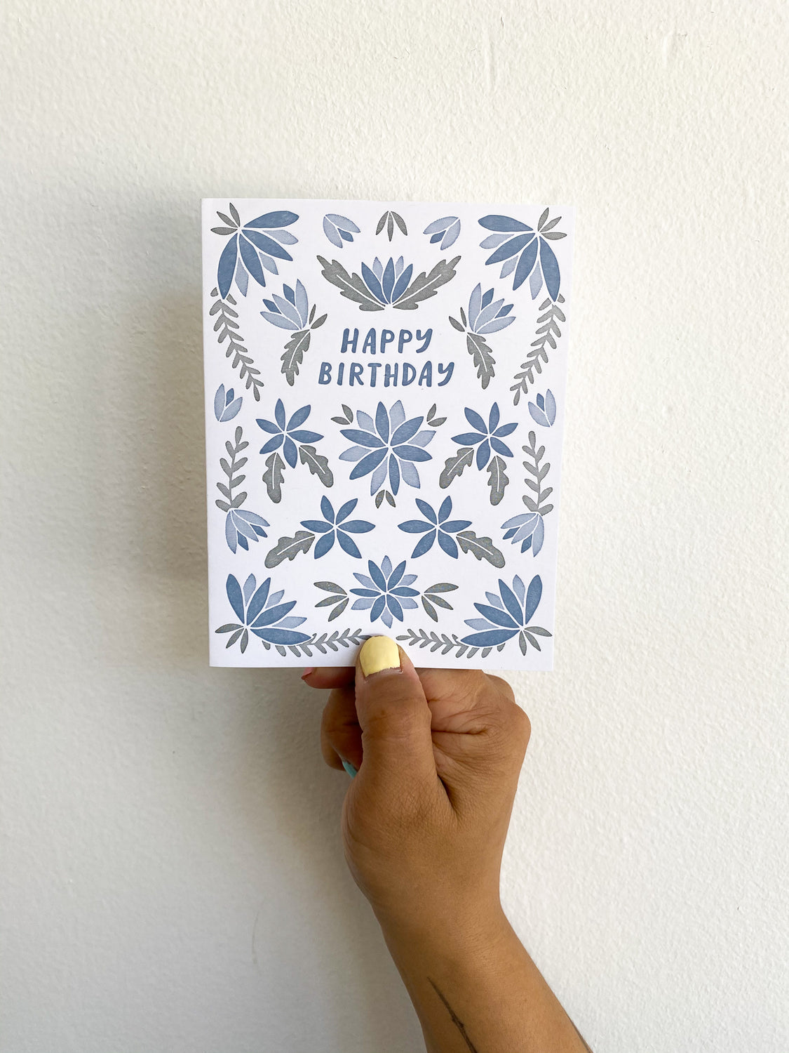 Greeting Card: Happy Birthday (Blue Flower)