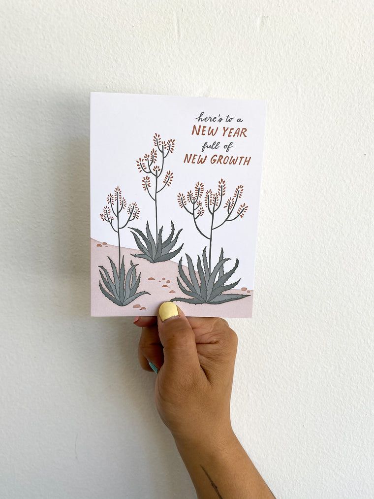 Greeting Card: New Year Growth