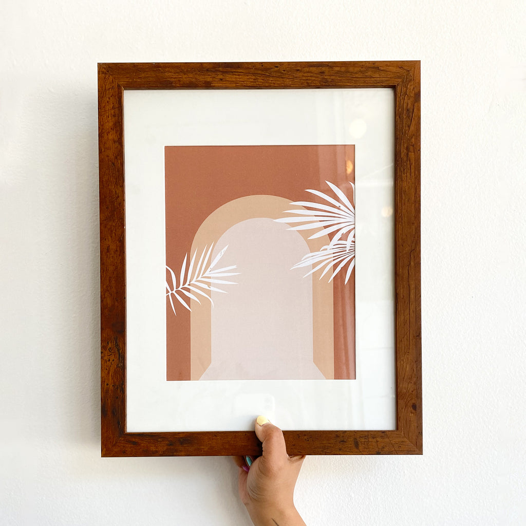 Art Print in Wood Frame: Arch