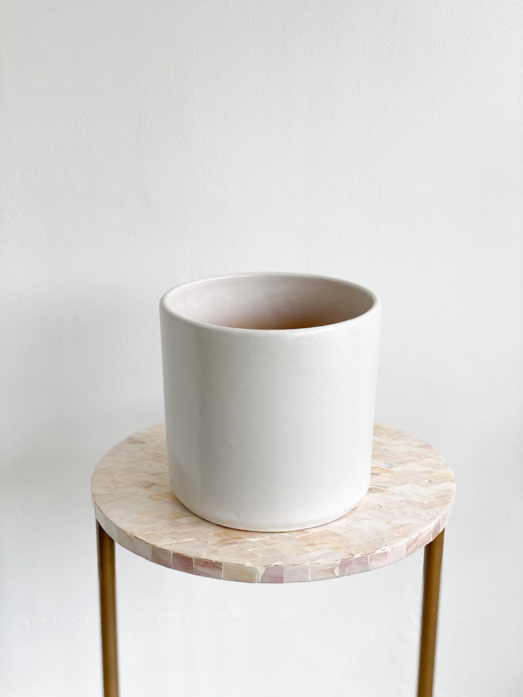 White Matte Cylinder Pots (Varying Sizes)