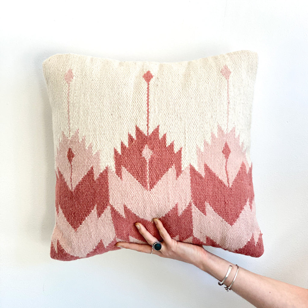 Accent Pillow: Rosette Blush Kilim