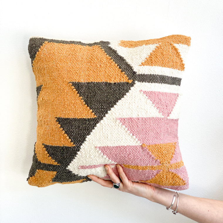 Accent Pillow: Desert Kilim Geometric Pillow