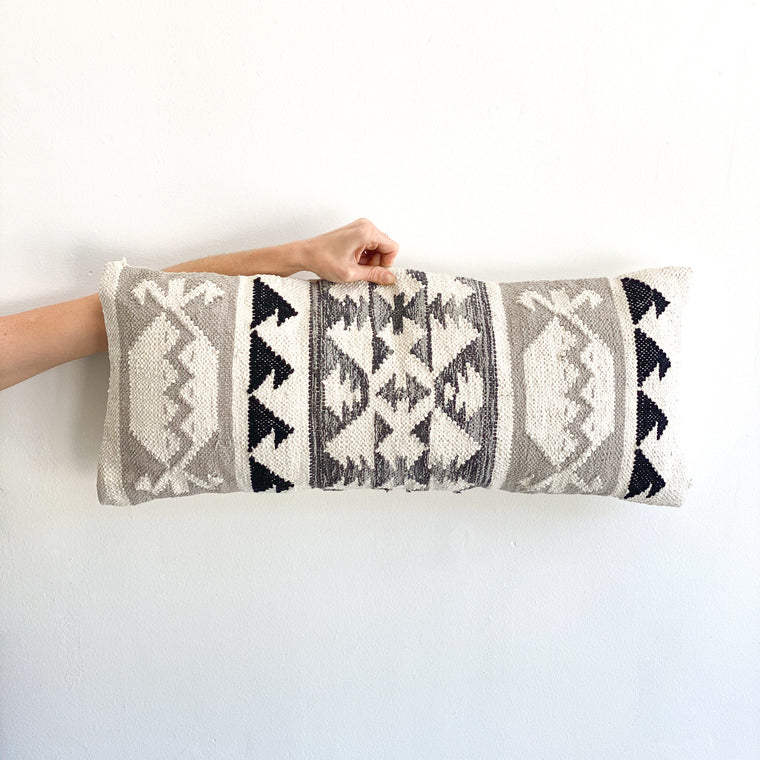 Lumbar Pillow: Tulum Grey