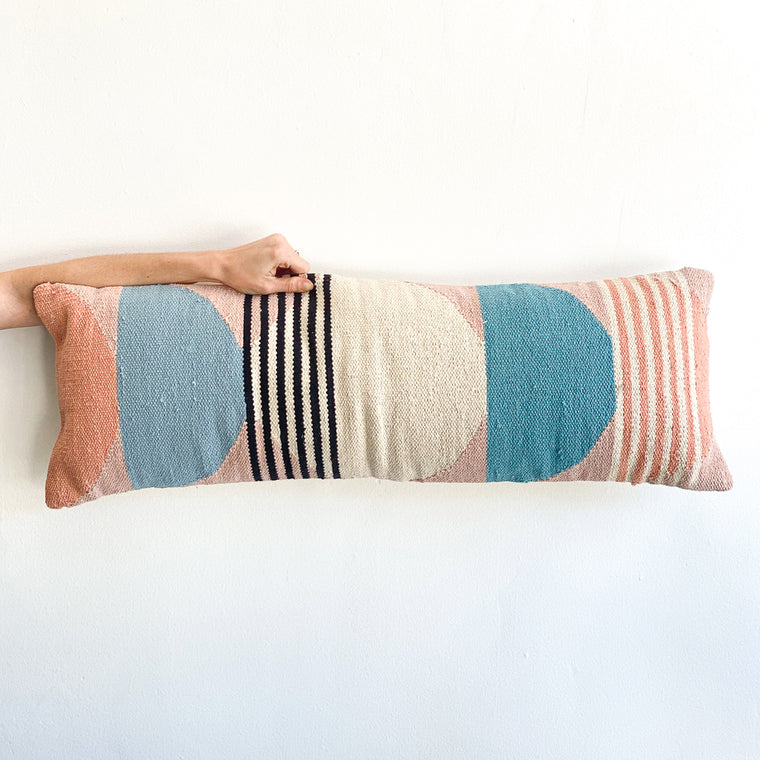 Lumbar Pillow: Circle Geo