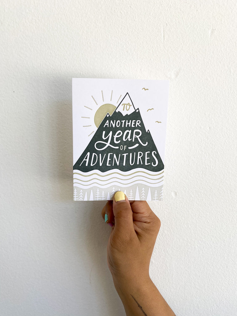 Greeting Card: Year of Adventure