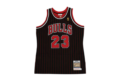 Authentic Alternate Pinstripe Jersey Bulls '96 Jordan