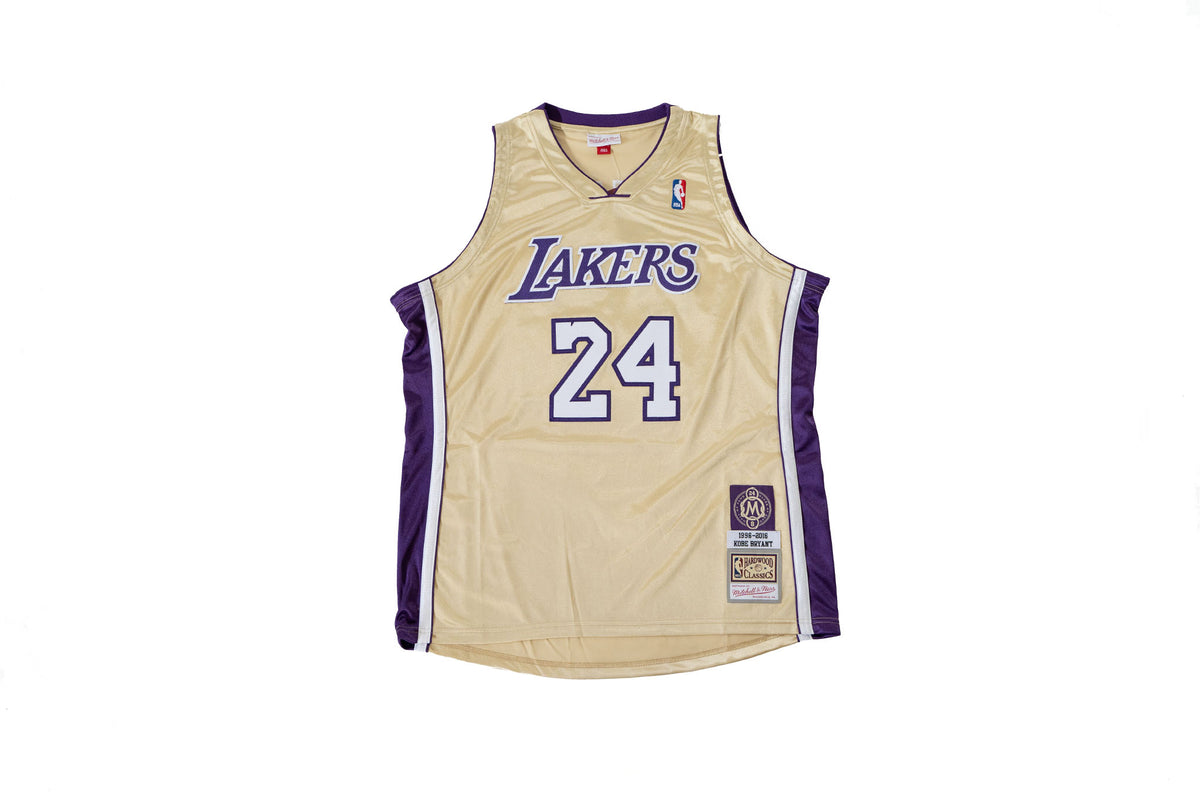Mitchell & Ness Authentic HOF #24 Kobe Bryant Los Angeles Lakers 1996-2016 Jersey