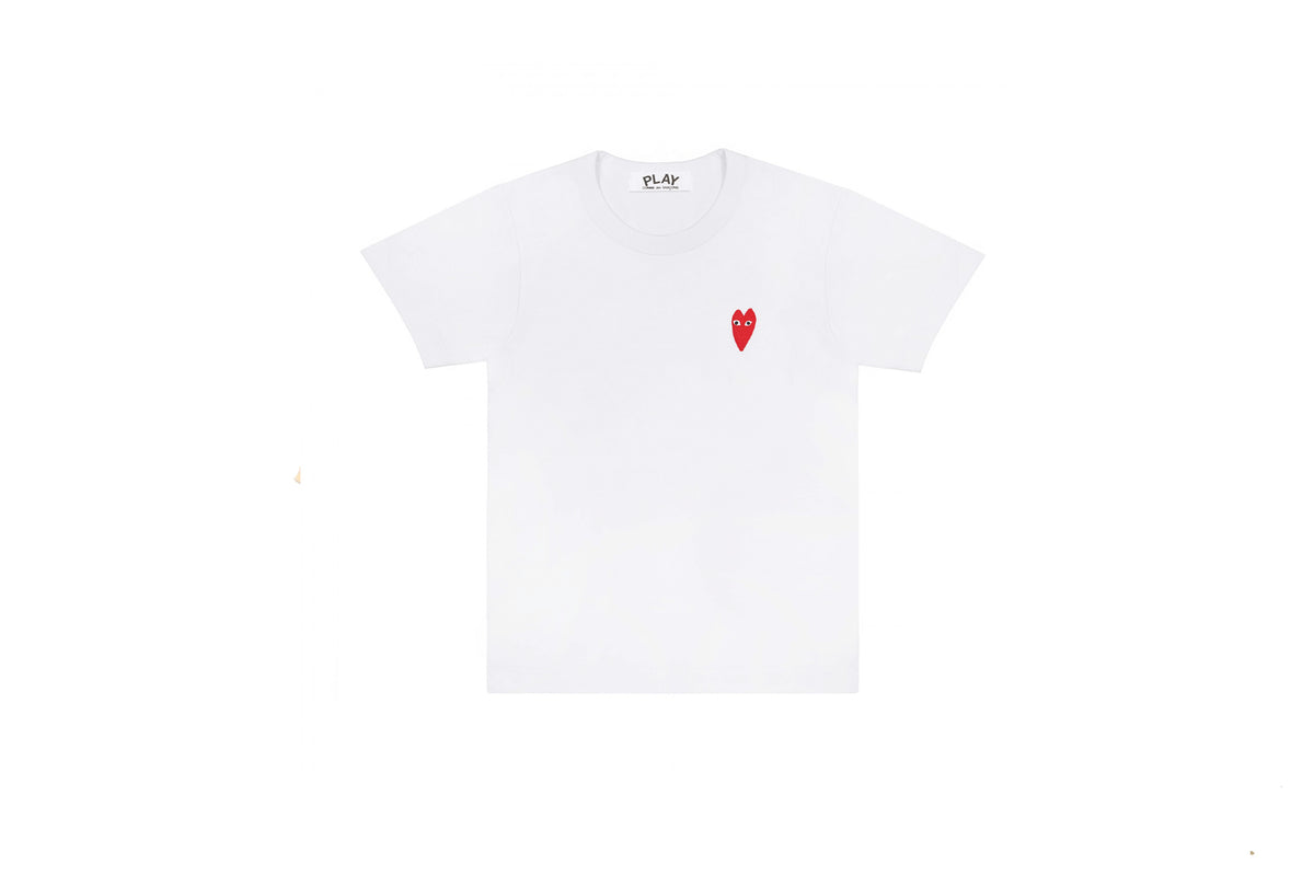 CDG PLAY Long Red Heart T-Shirt