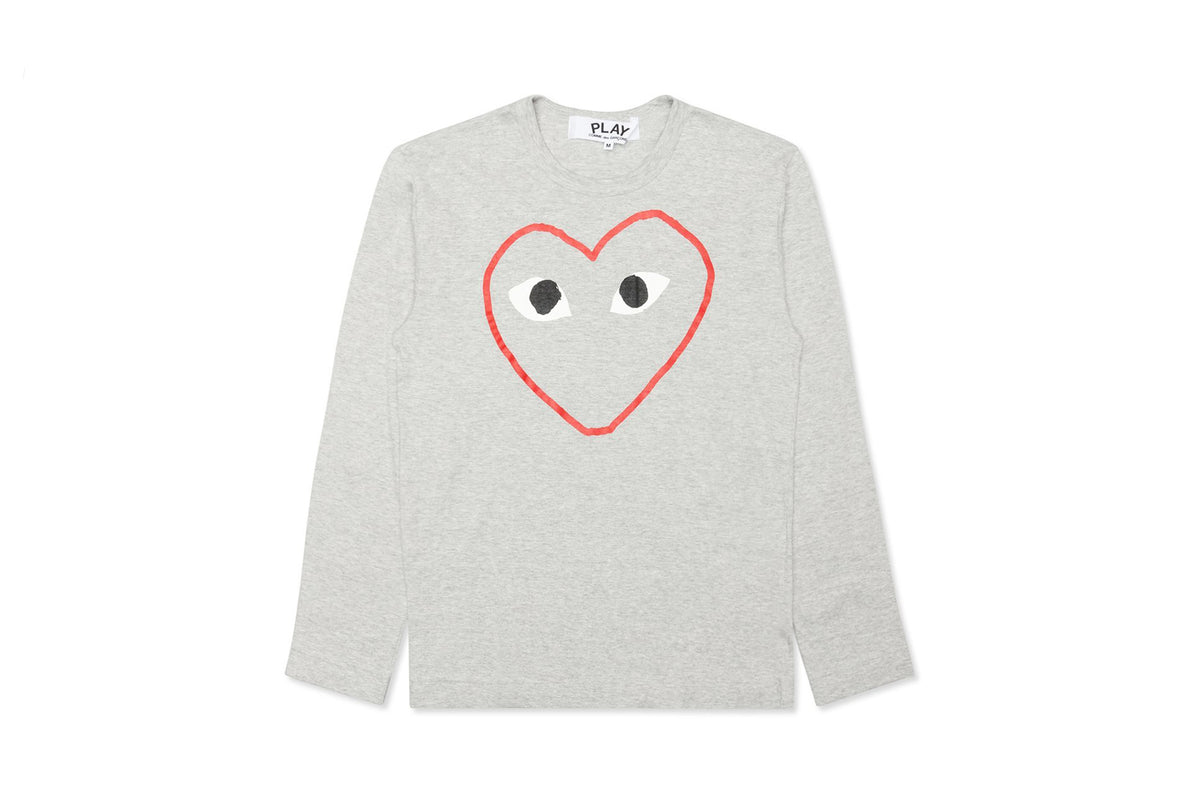 CDG PLAY Border Heart Play Long Sleeve