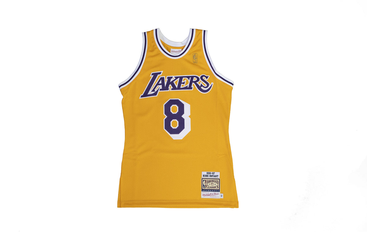1996-97 Kobe Bryant Authentic Los Angeles Lakers Rookie Home Jersey
