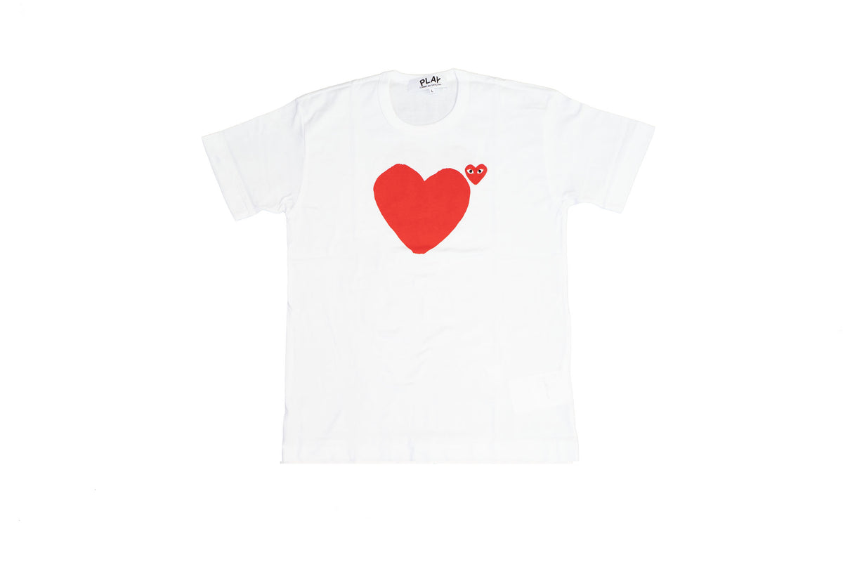 CDG Play Red Emblem No Eyes T-Shirt