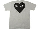 Grey CDG Play T-shirt
