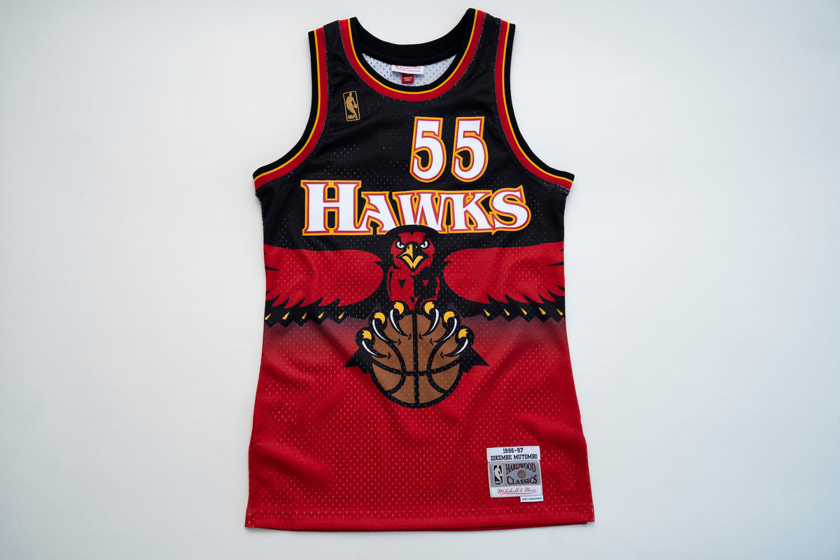 Atlanta Hawks Dikembe Mutombo  Throwback Basketball Jersey