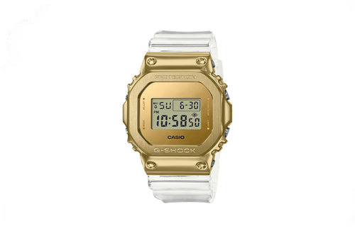Casio G-Shock Limited Edition Metal Covered Gold Ingot Transparent Watch