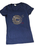 Women's Foil Tree Ring Turn Table T-Shirt