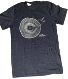 Men's Navy Tree Trunk Turn Table T-Shirt