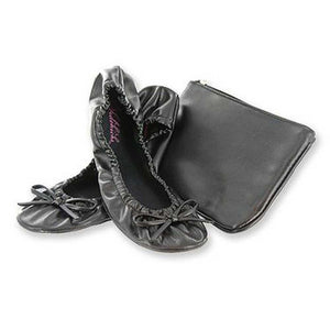 Sidekicks black foldable shoes with case