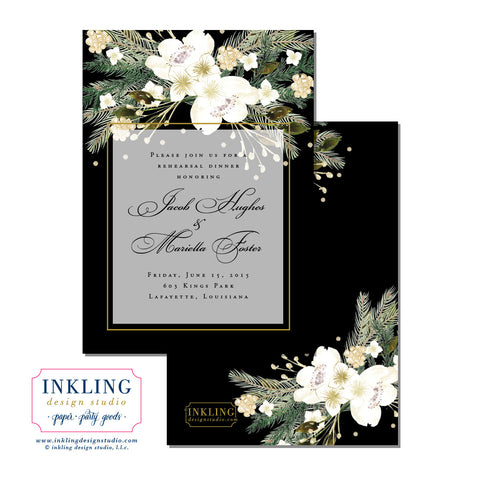Floral Rehearsal Dinner or Engagement Party Invitation