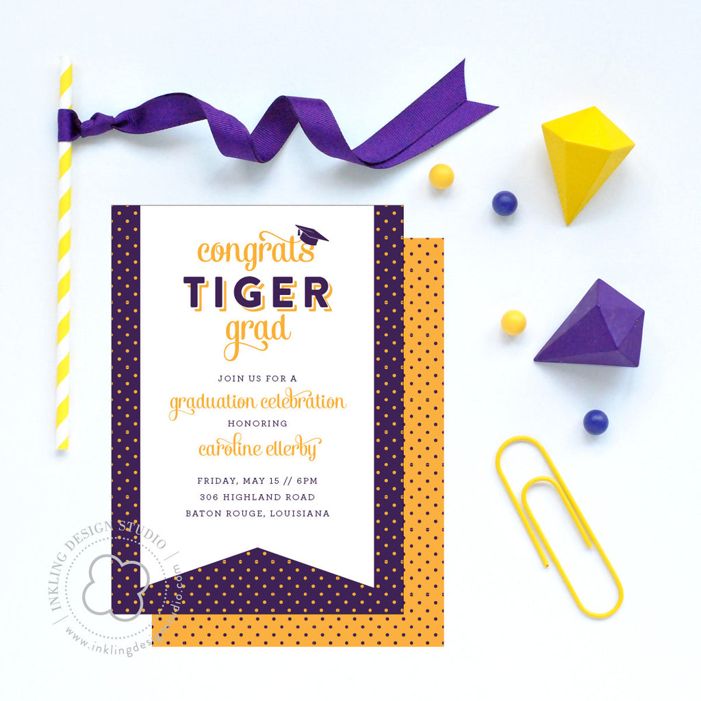 LSU Graduation Party Invitation