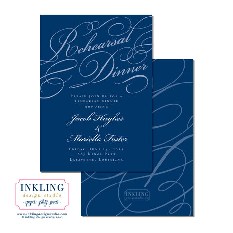 Swashes Rehearsal Dinner Invitation