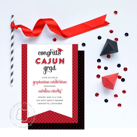 UL Graduation Party Invitation