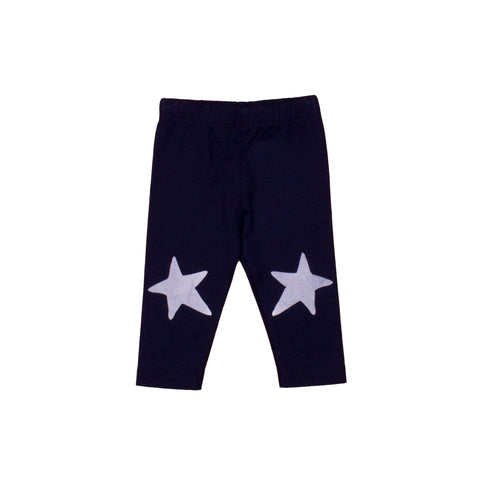 Baby Leggings Navy with White Star