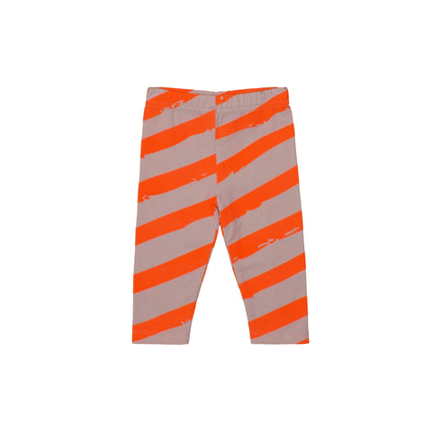 Baby Leggings Neon Orange XL Stripes