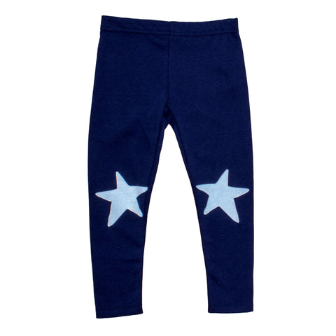 Kids Leggings Navy with White Star