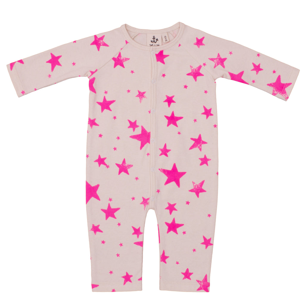 Playsuit Pink Stars