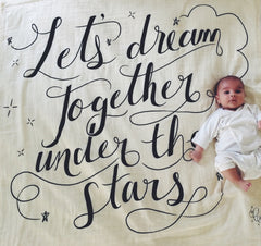 Let's Dream Together Organic Swaddle Scarf
