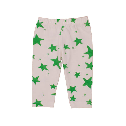 Baby Leggings Green Stars