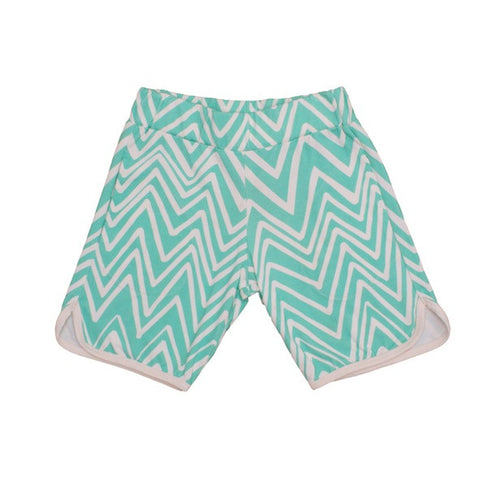 Shorts Mint Chevron