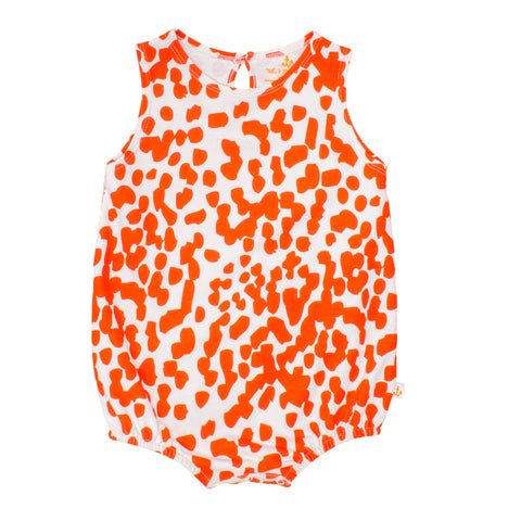 Sleeveless Romper Coral Stains