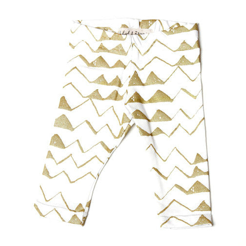 Leggings Mountain white/gold