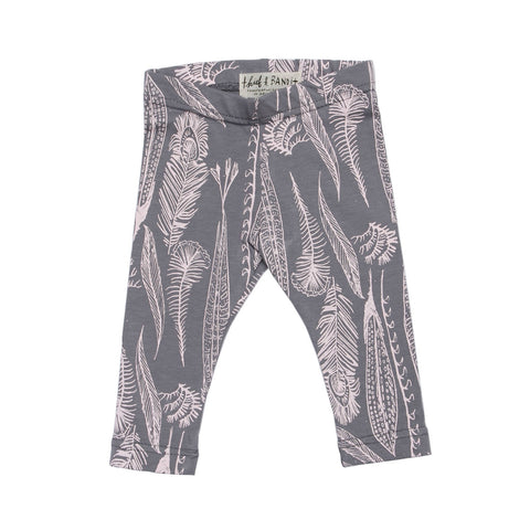 Leggings Feather pink/grey