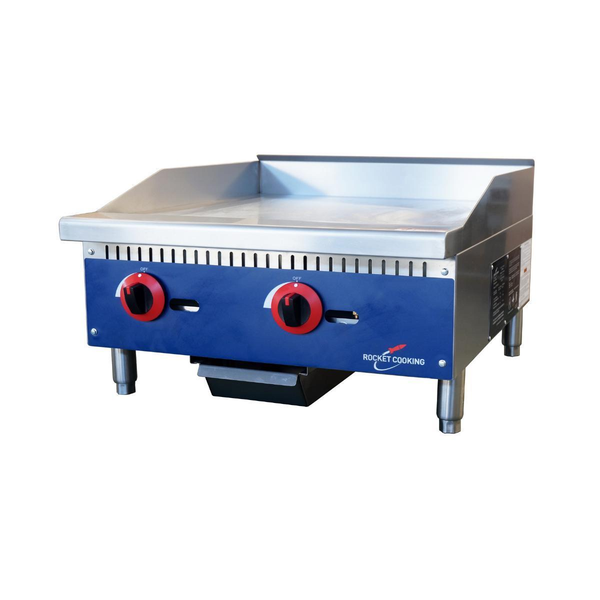 Rocket Cooking RCMG24 24 inch Manual Griddle