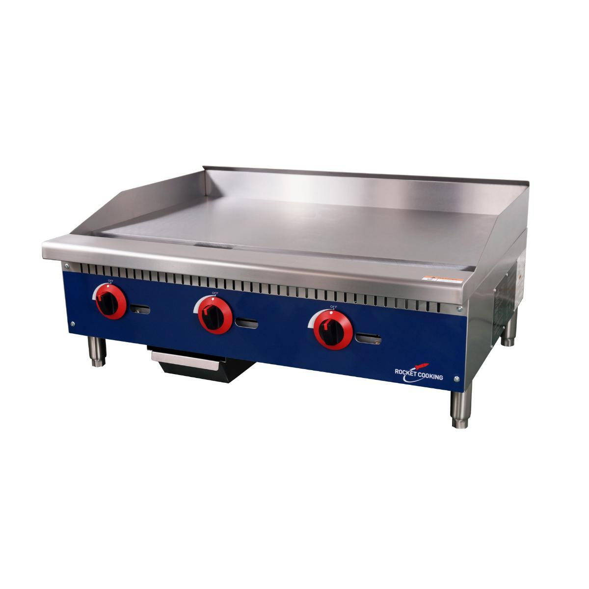 Rocket Cooking RCMG36 36 inch Manual Griddle