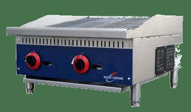 Rocket Cooking RCRB24 24 inch Gas Countertop Radiant Charbroiler - 70,000 BTU