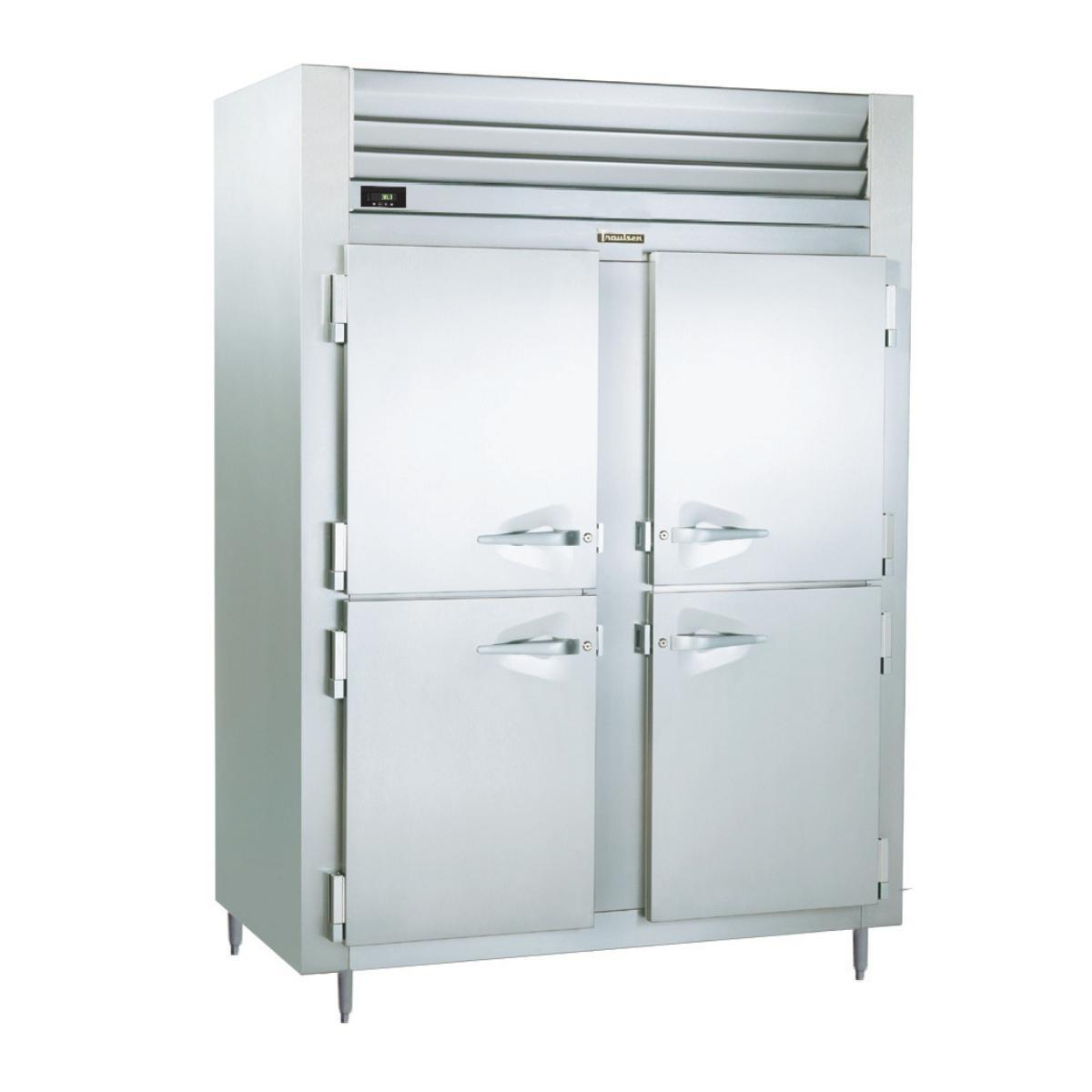 Traulsen ALT226WUT-HHS 40.8 Cu. Ft. Shallow Two-Section Solid Half Door Reach-In Freezer