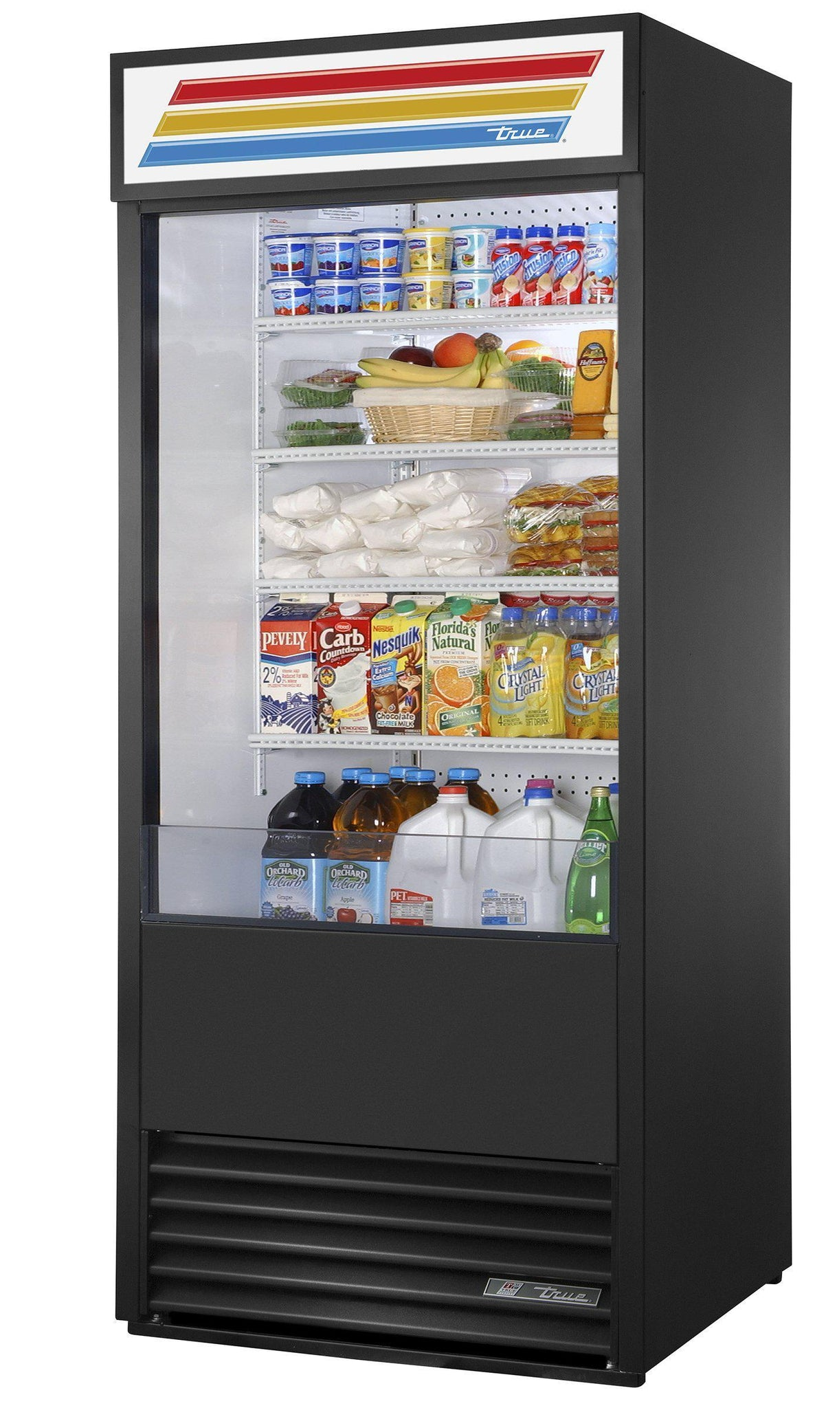 True TAC-30 Black Air Curtain Refrigerated Merchandiser