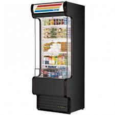 True TAC-30GS Black Vertical Air Curtain Refrigerated Merchandiser