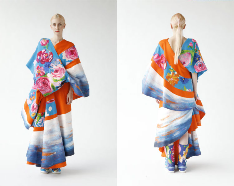 Japanese Inspired Felt Fashion