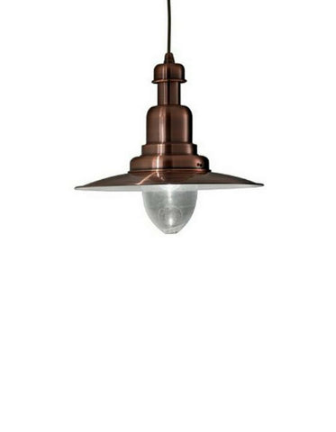 The Fiordi Copper Pendant Light is italian designed by Ideal Lux. This pendant light features a warm reddish copper finish.
