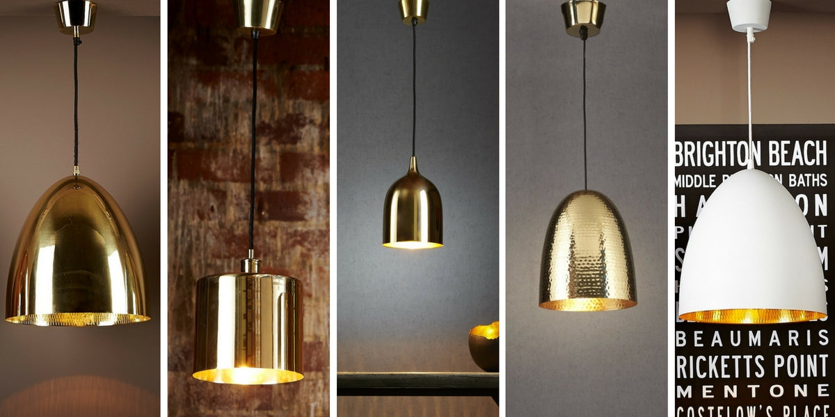 Brass Is The Breakthrough Lighting Trend In Chic Chandeliers - Kitchen pendant lighting brass