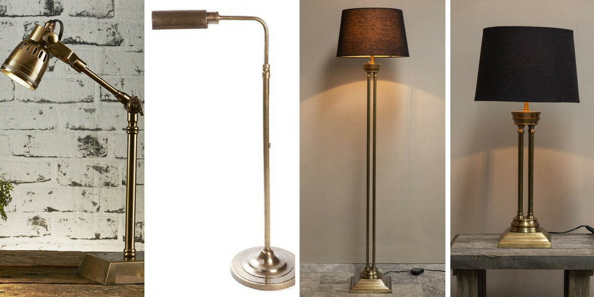 Brass Floor and Table Lamps