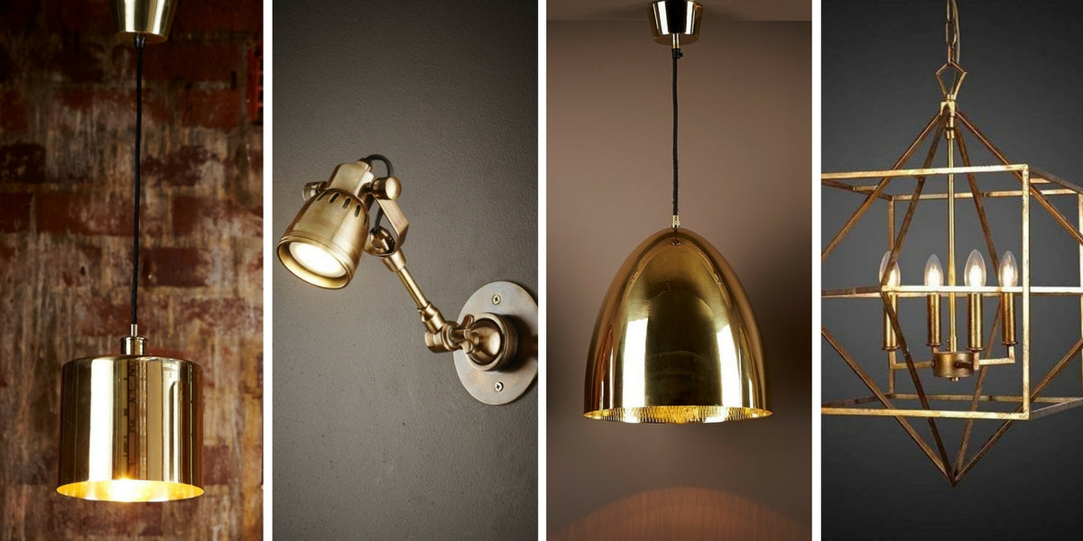 A feature of brass lighting products