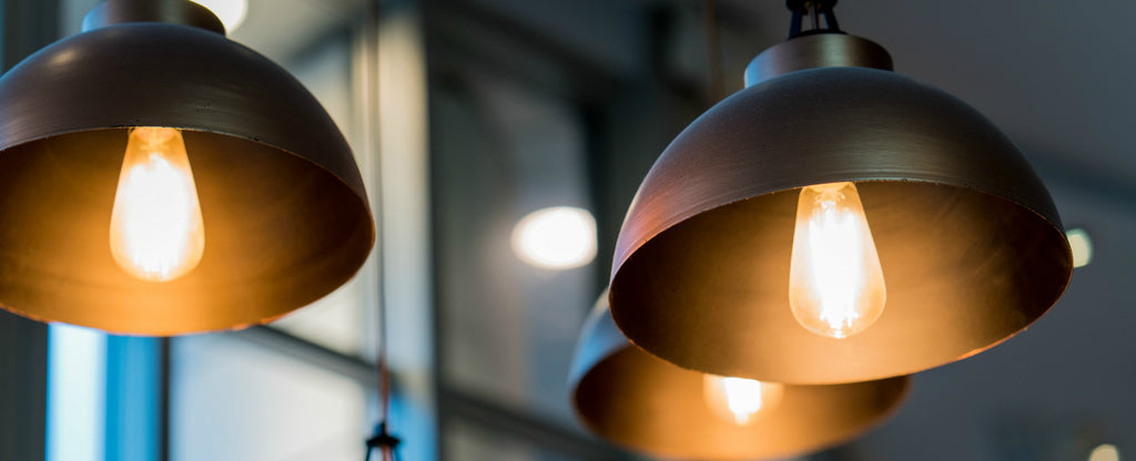 industrial pendant lights with vintage filament globes