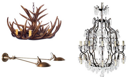 Pendant lights by Chic Chandeliers