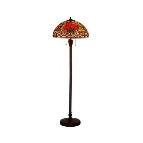 Red Roses Tiffany Floor Lamp